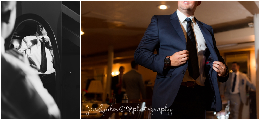 jacnjules photographs groom getting ready at drumore estate in pa