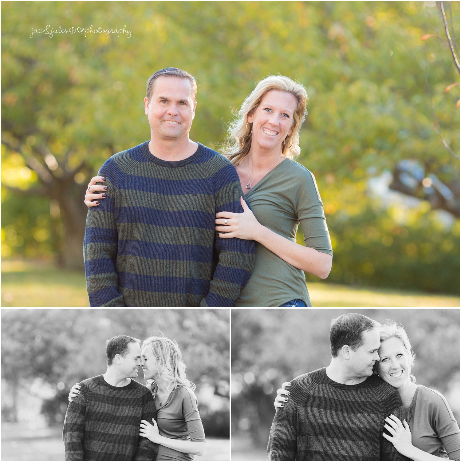 sweet couple with black and white candids