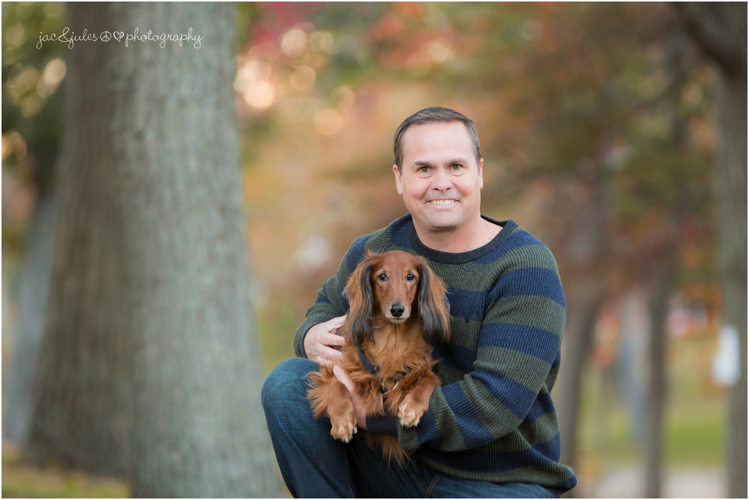 Handsome man and his dog