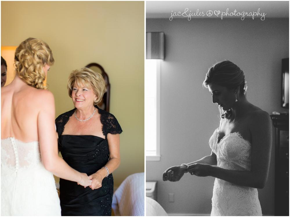 jacnjules photographs bride getting ready at nassau inn in princeton nj