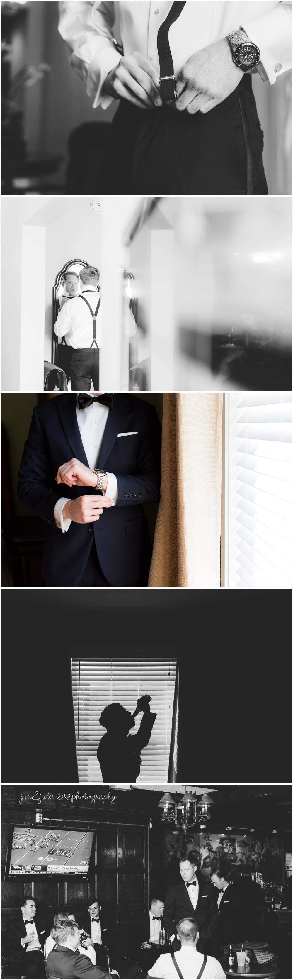 jacnjules photographs groom getting ready at nassau inn in princeton nj