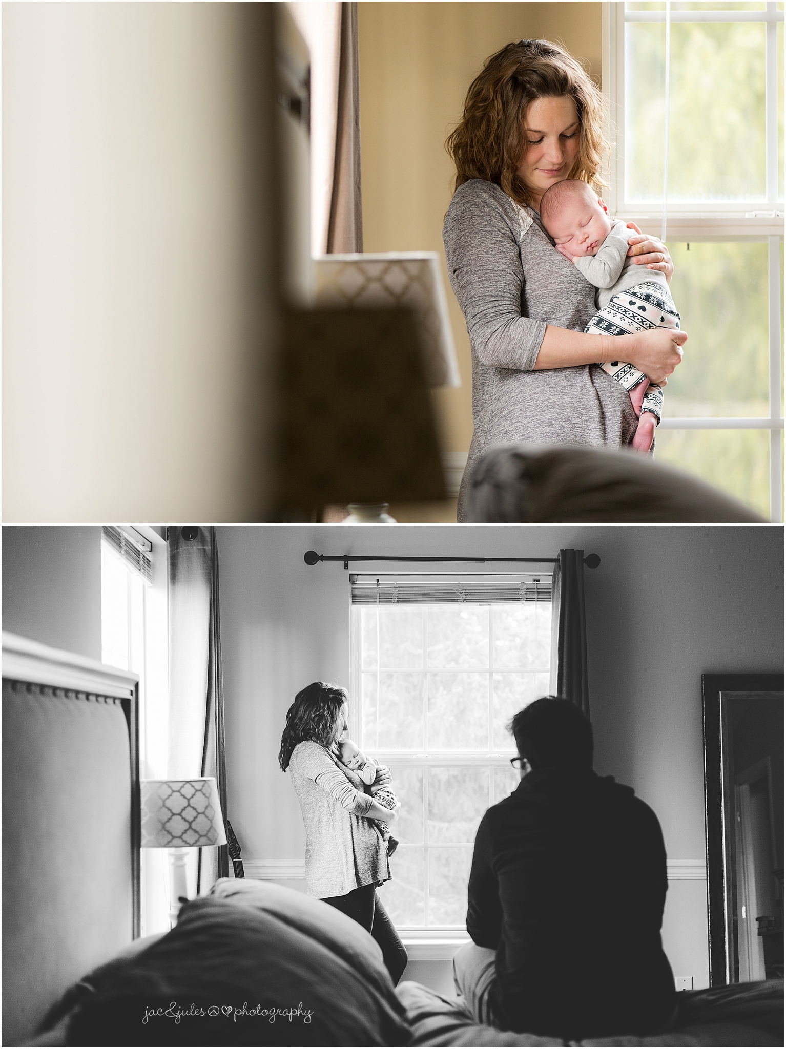 jacnjules photographs a newborn and her parents in their home in toms river, nj