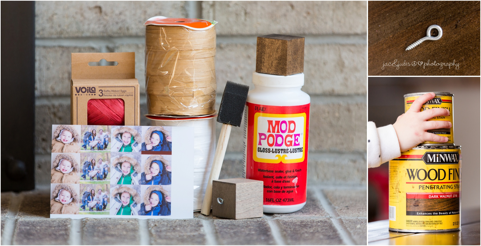 supplies for diy wooden photo holiday ornament gifts
