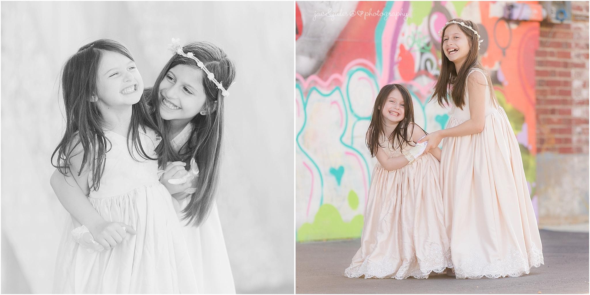 jacnjules photographs girls near graffiti in Asbury Park NJ