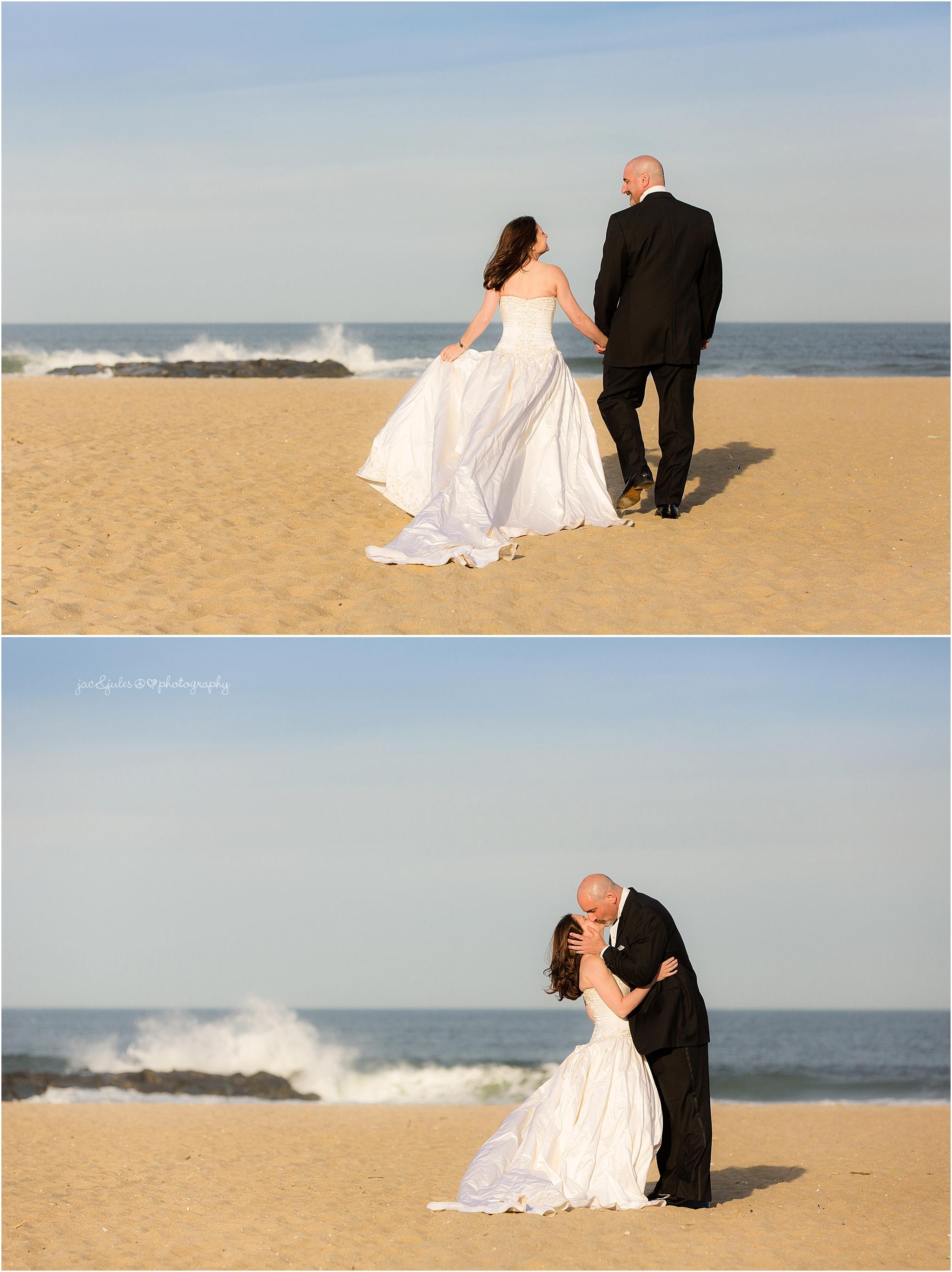 jacnjules photographs bride and groom in Asbury Park NJ