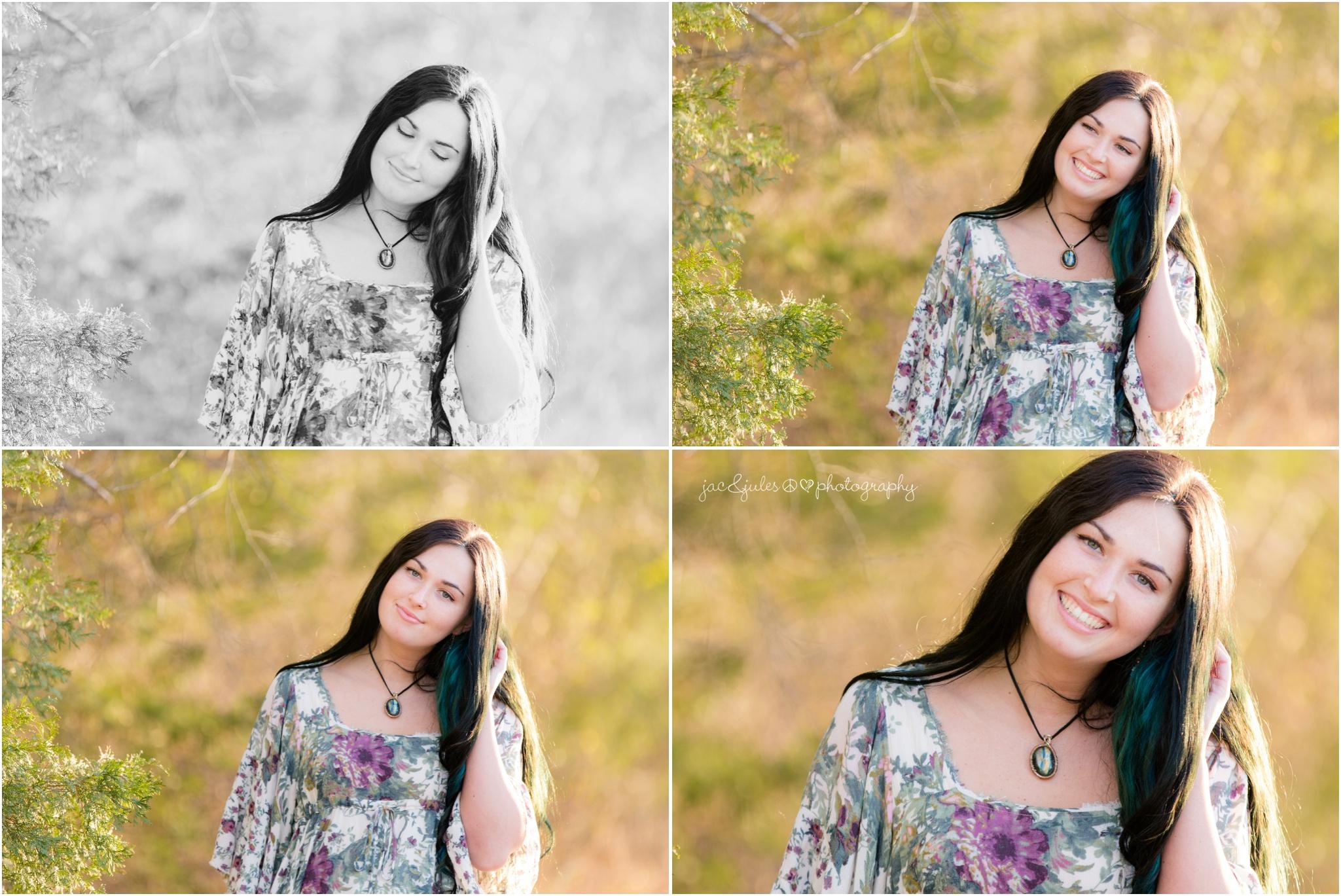 pretty outdoor senior photos
