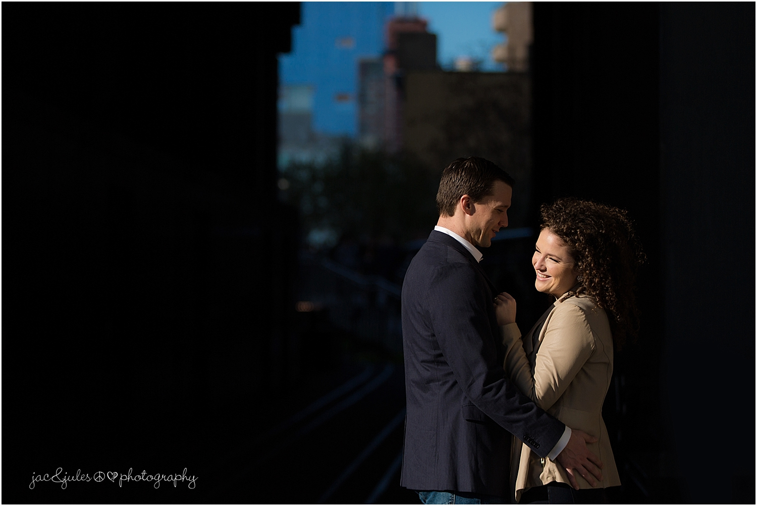 jacnjules photographs engagement in NYC at the highline
