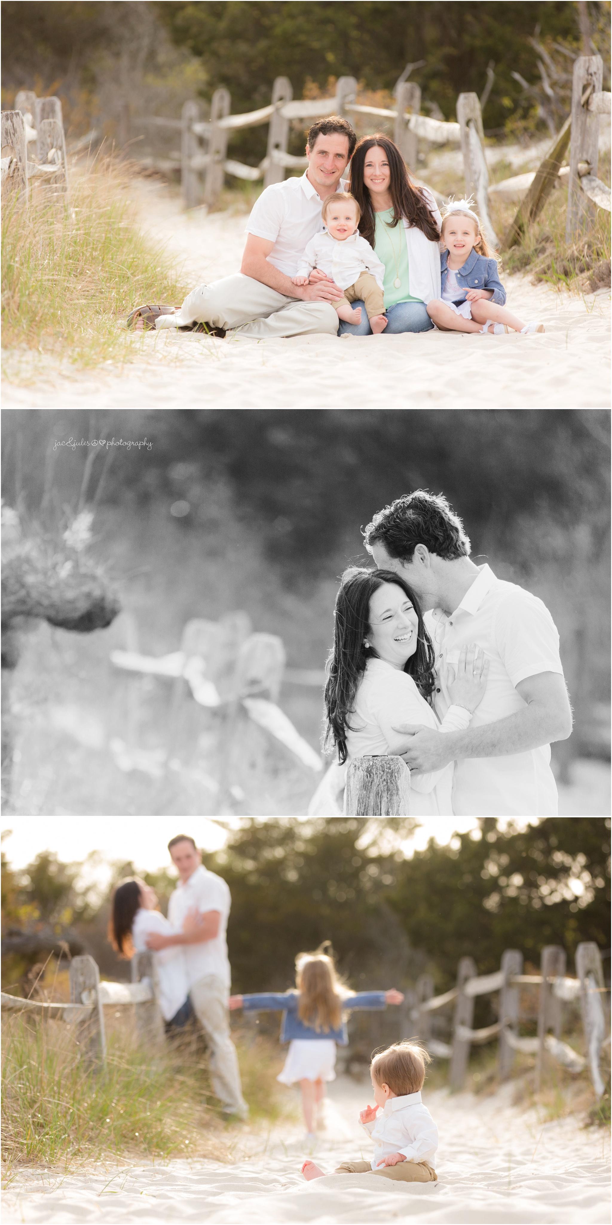 family photos at Island Beach State Park