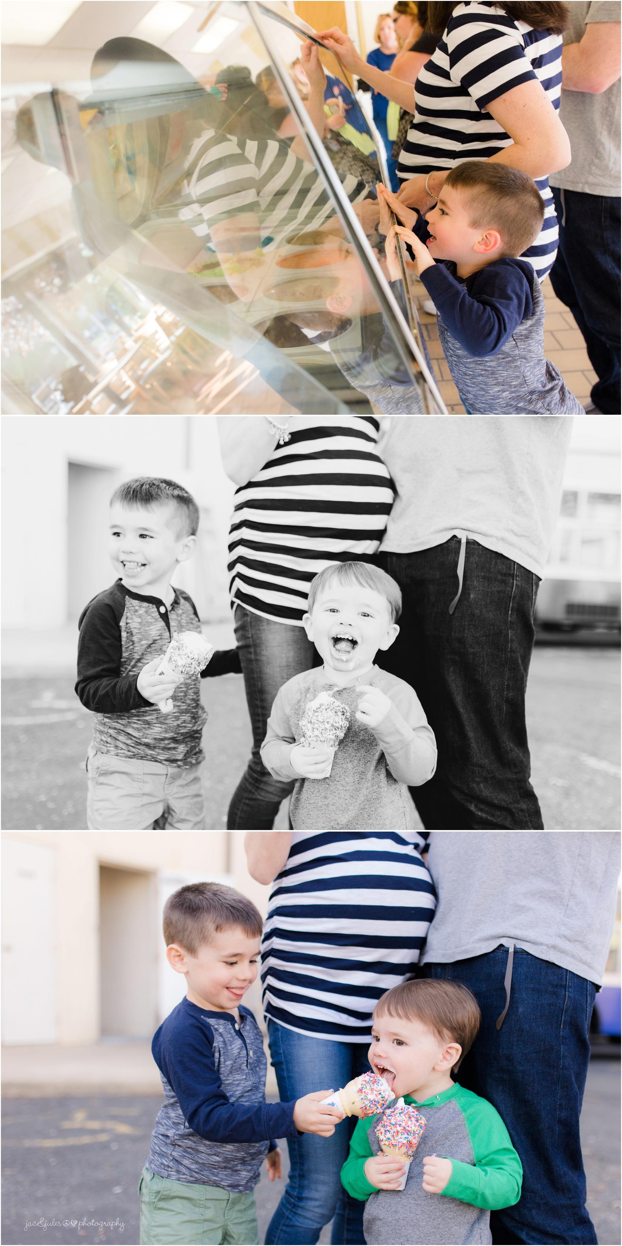 Hoffman's Ice cream family maternity photos