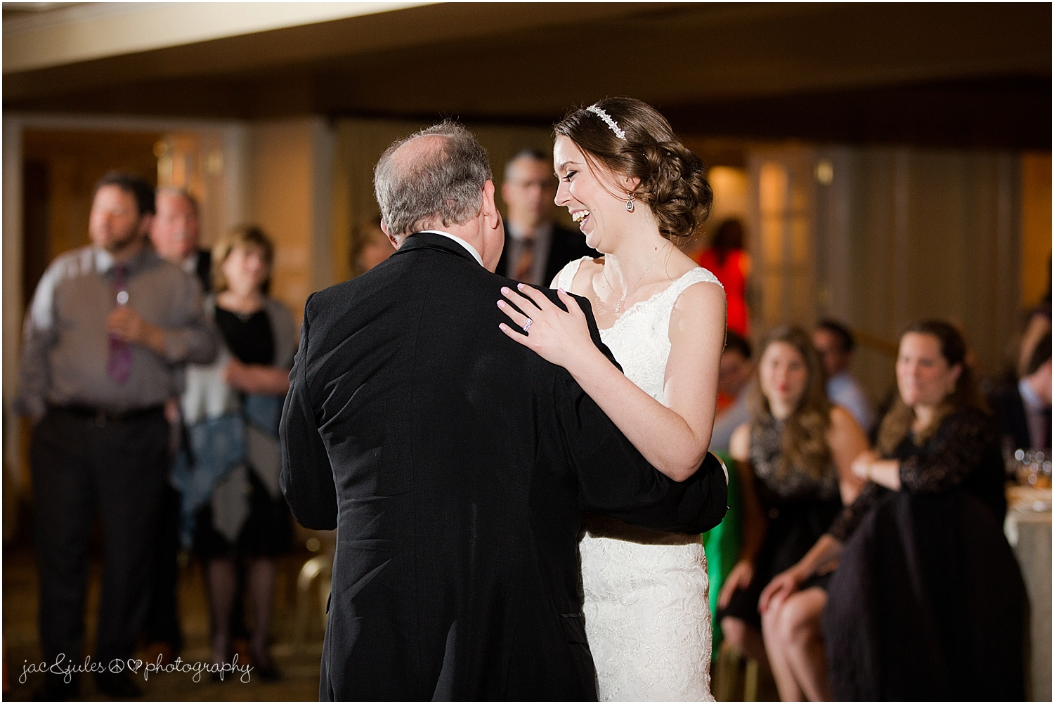 jacnjules photograph first dance at their wedding reception at olde mill inn in basking ridge nj