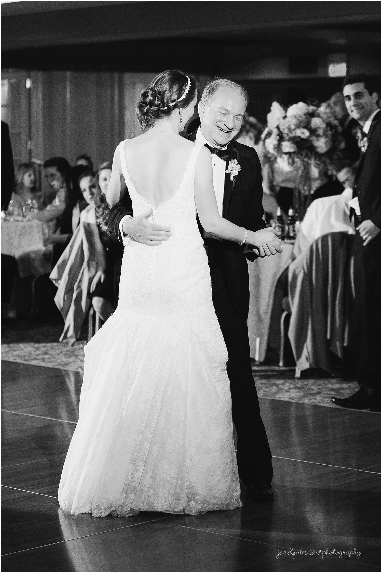 jacnjules photographs wedding reception at olde mill inn in basking ridge nj
