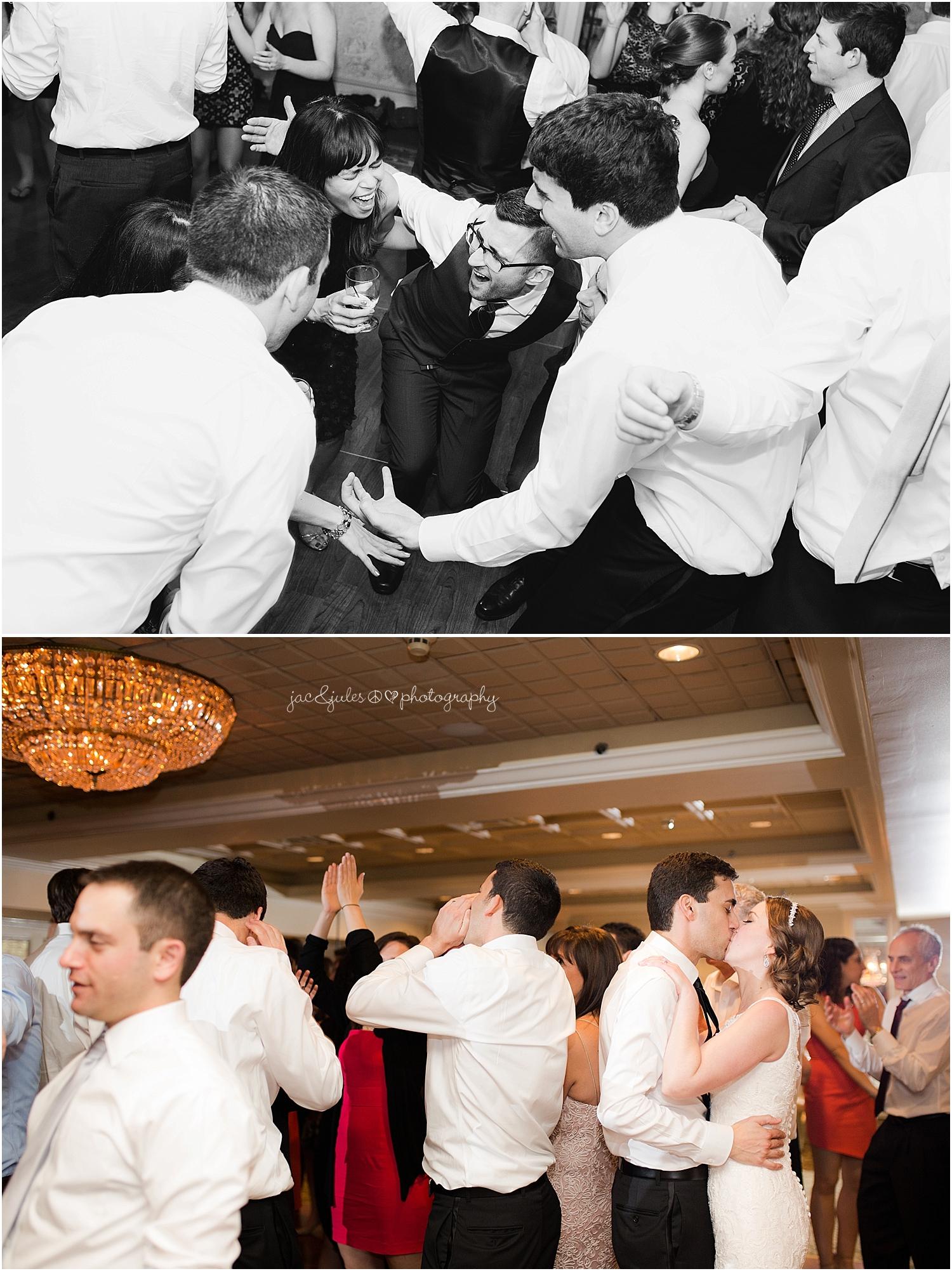 jacnjules photograph fun, wild wedding reception at the olde mill inn in basking ridge nj