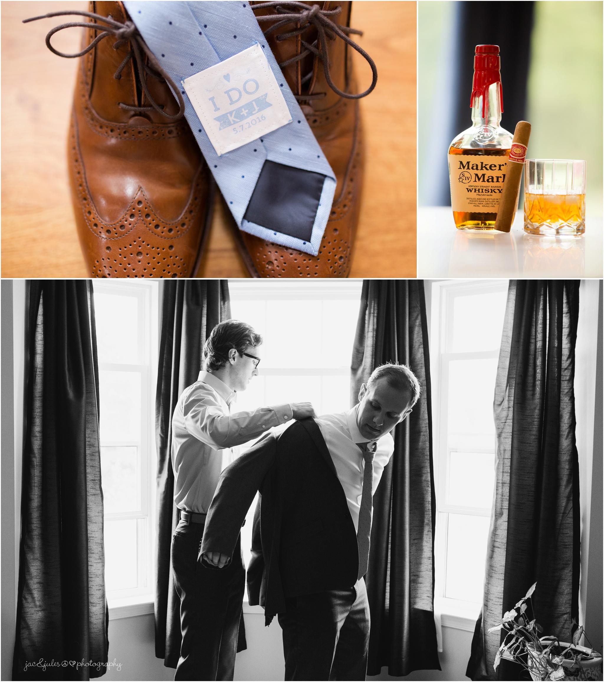 groom accessories, tie, shoes.