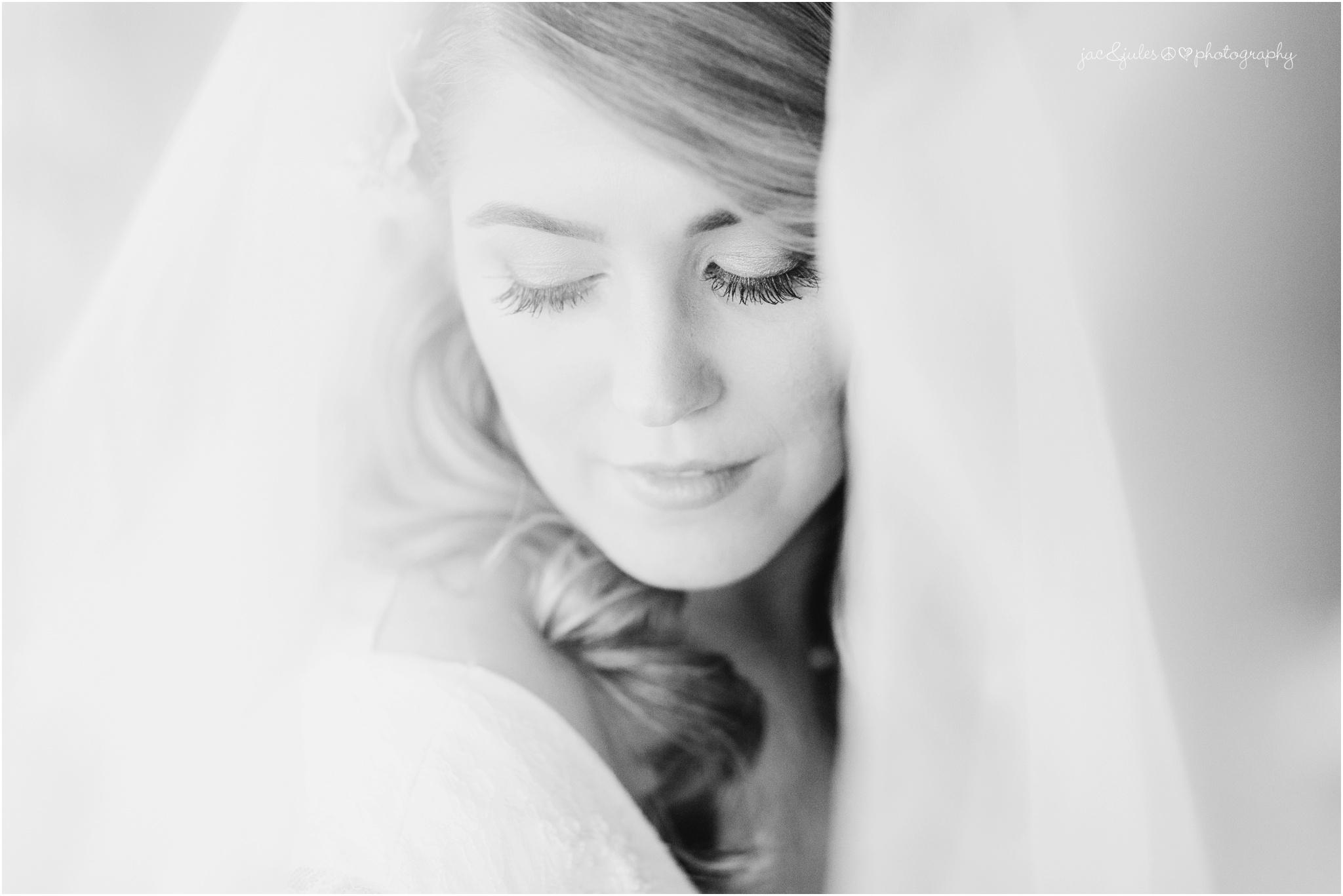 bridal portraits through veil