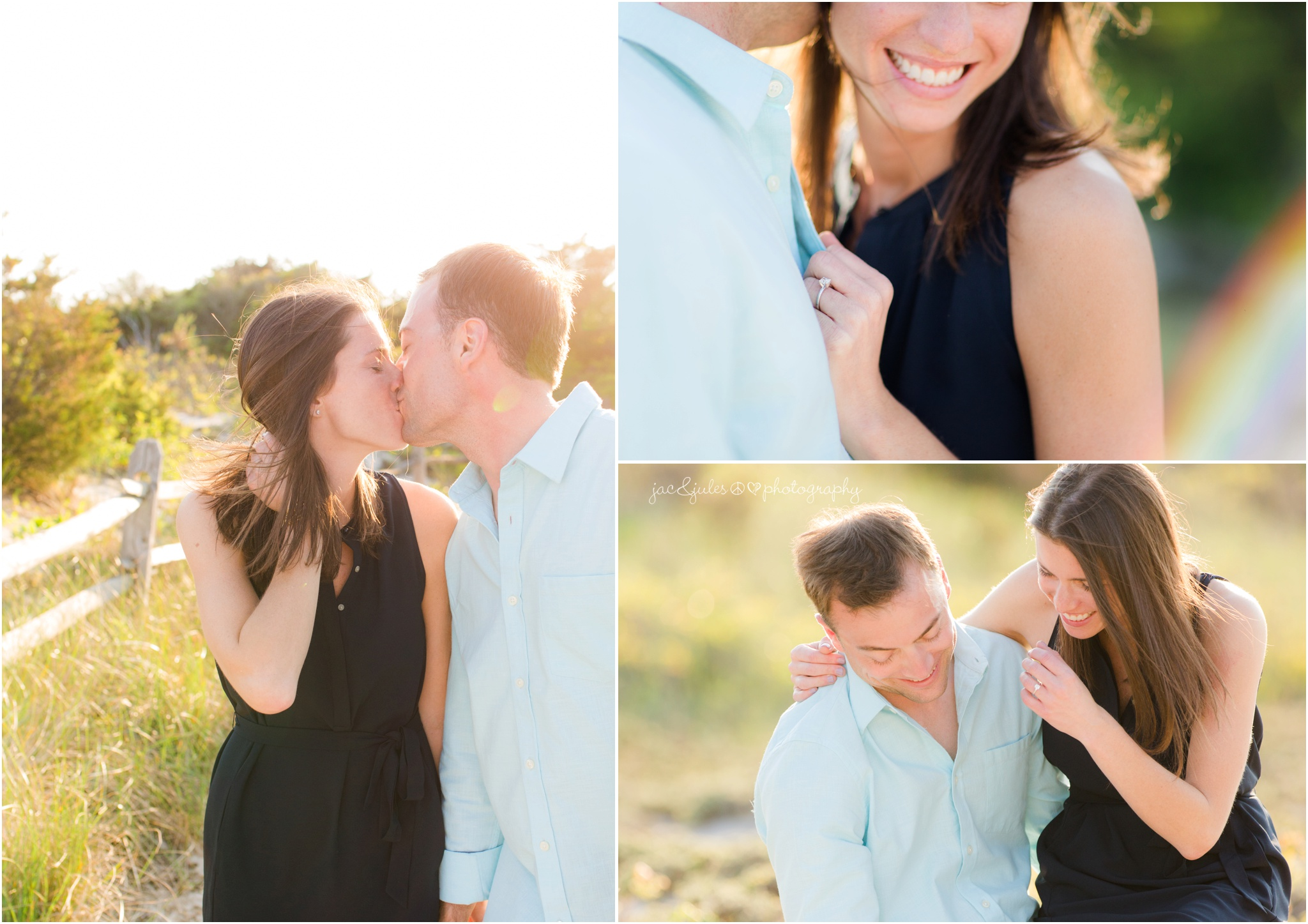 engagement photos at Island Beach State Park in Seaside Park, NJ.
