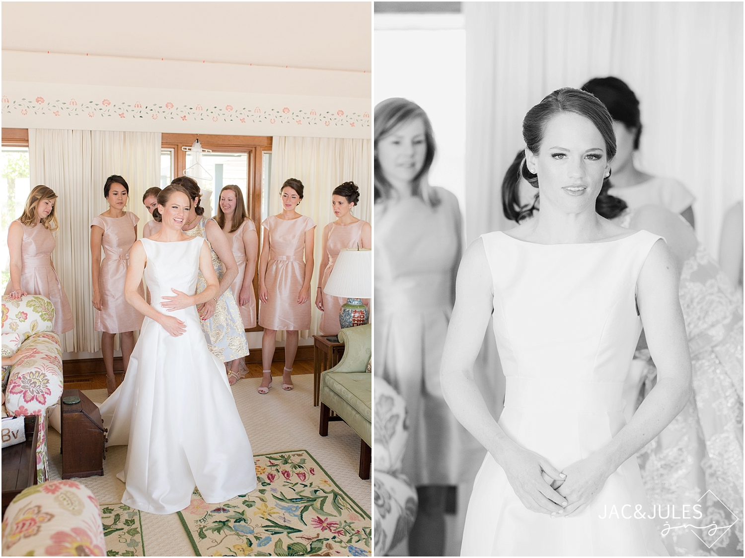 jacnjules photographs bride getting ready for her wedding at st. simon by the sea in mantoloking nj