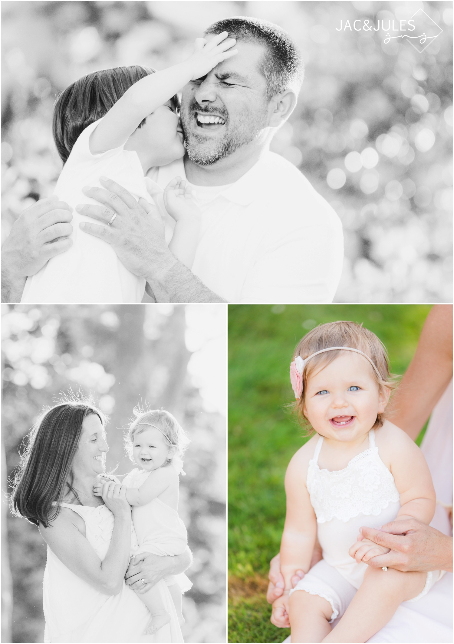 Candid first birthday photos at St. Catherine's Church in Spring Lake.
