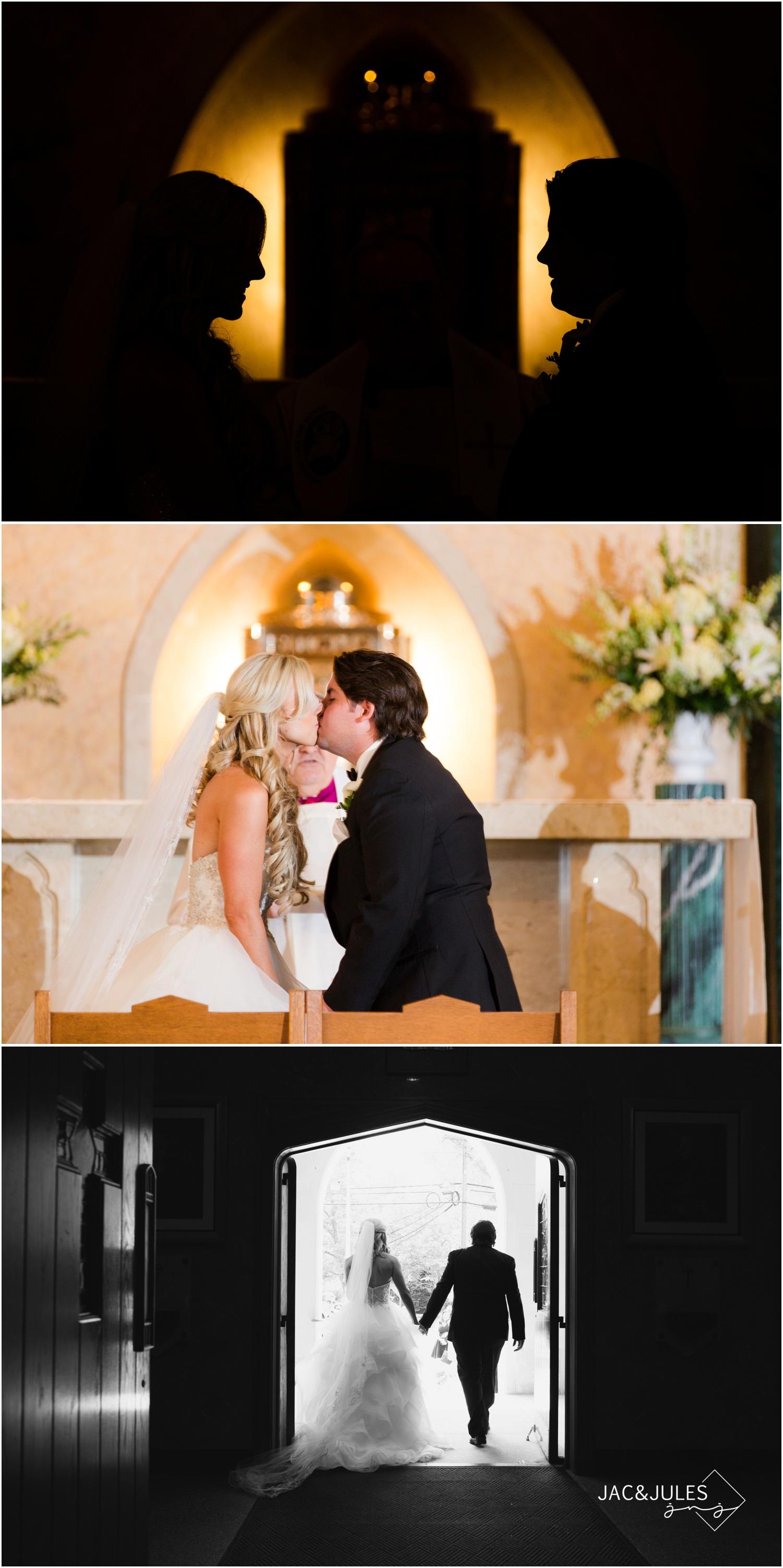 wedding ceremony at St. Francis in Metuchen, NJ.