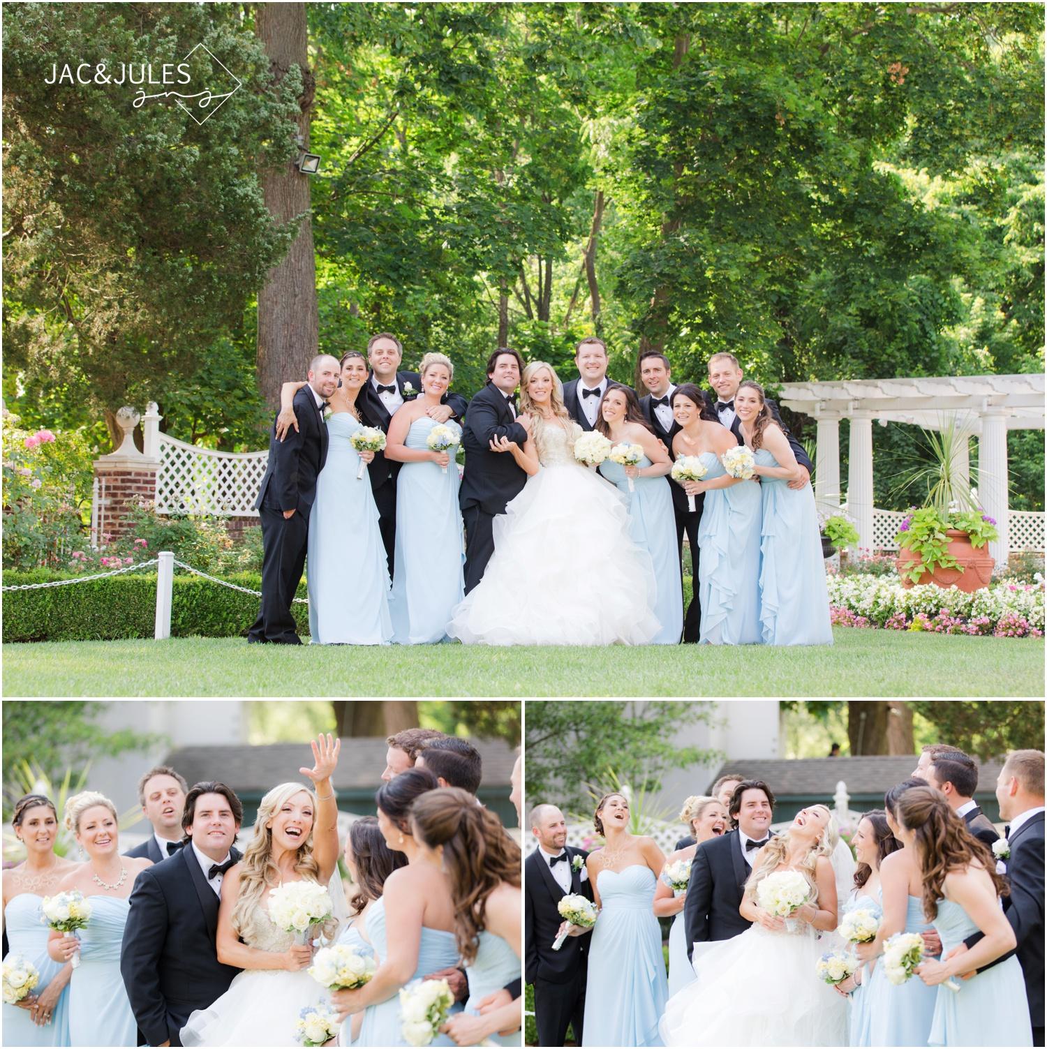 Fun bridal party photos at The Shadowbrook in Shrewsbury, NJ.