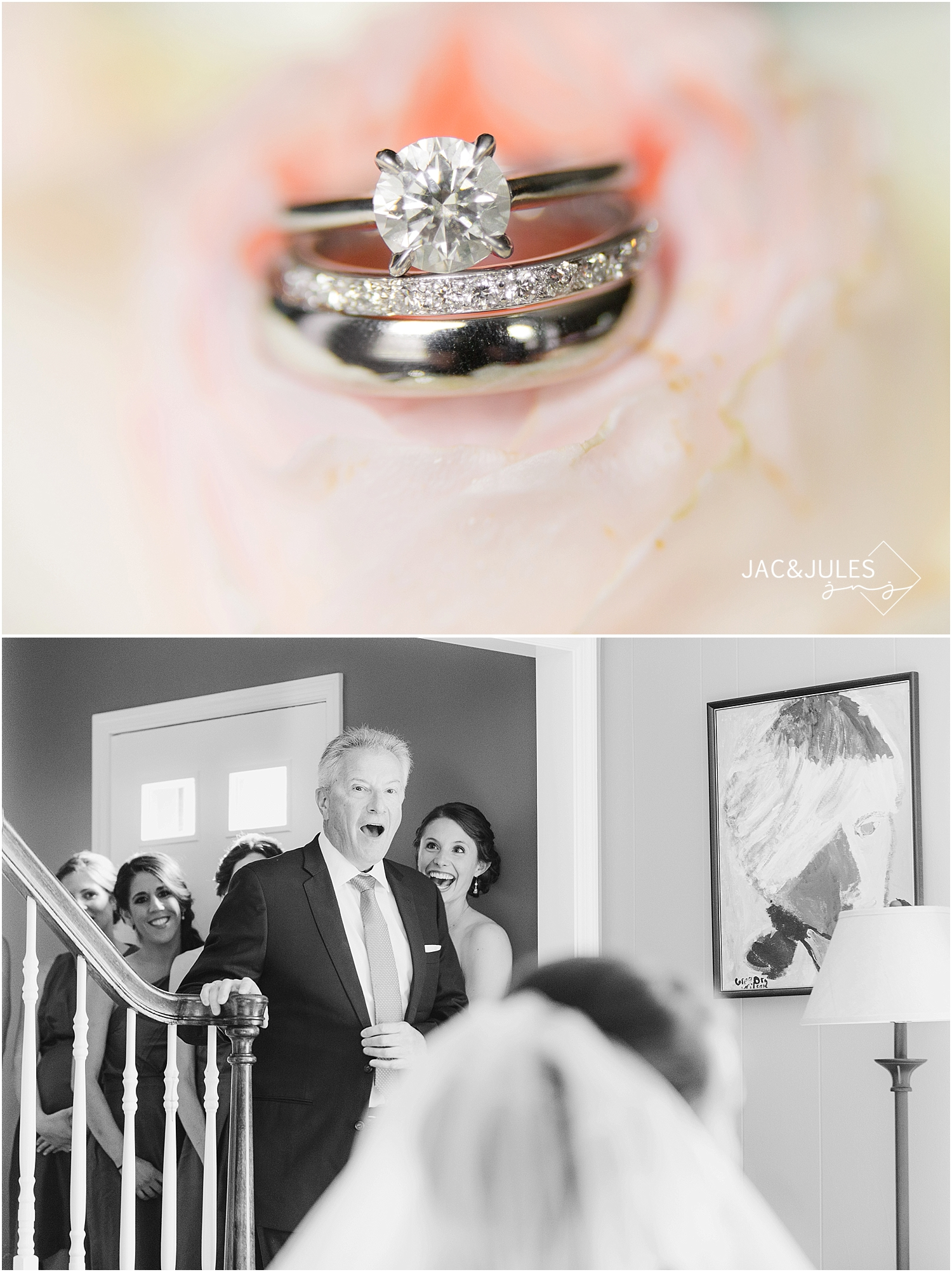 jacnjules photographs brides first look with dad