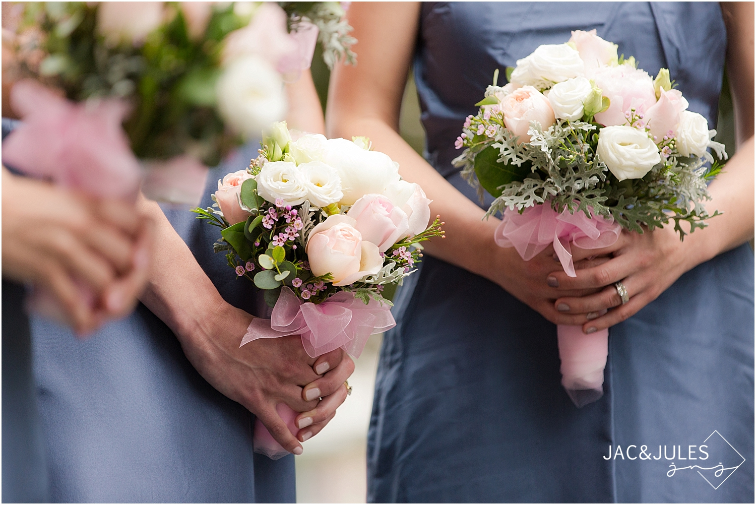jacnjules photographs peony and rose bridesmaid bouquet in lebanon nj