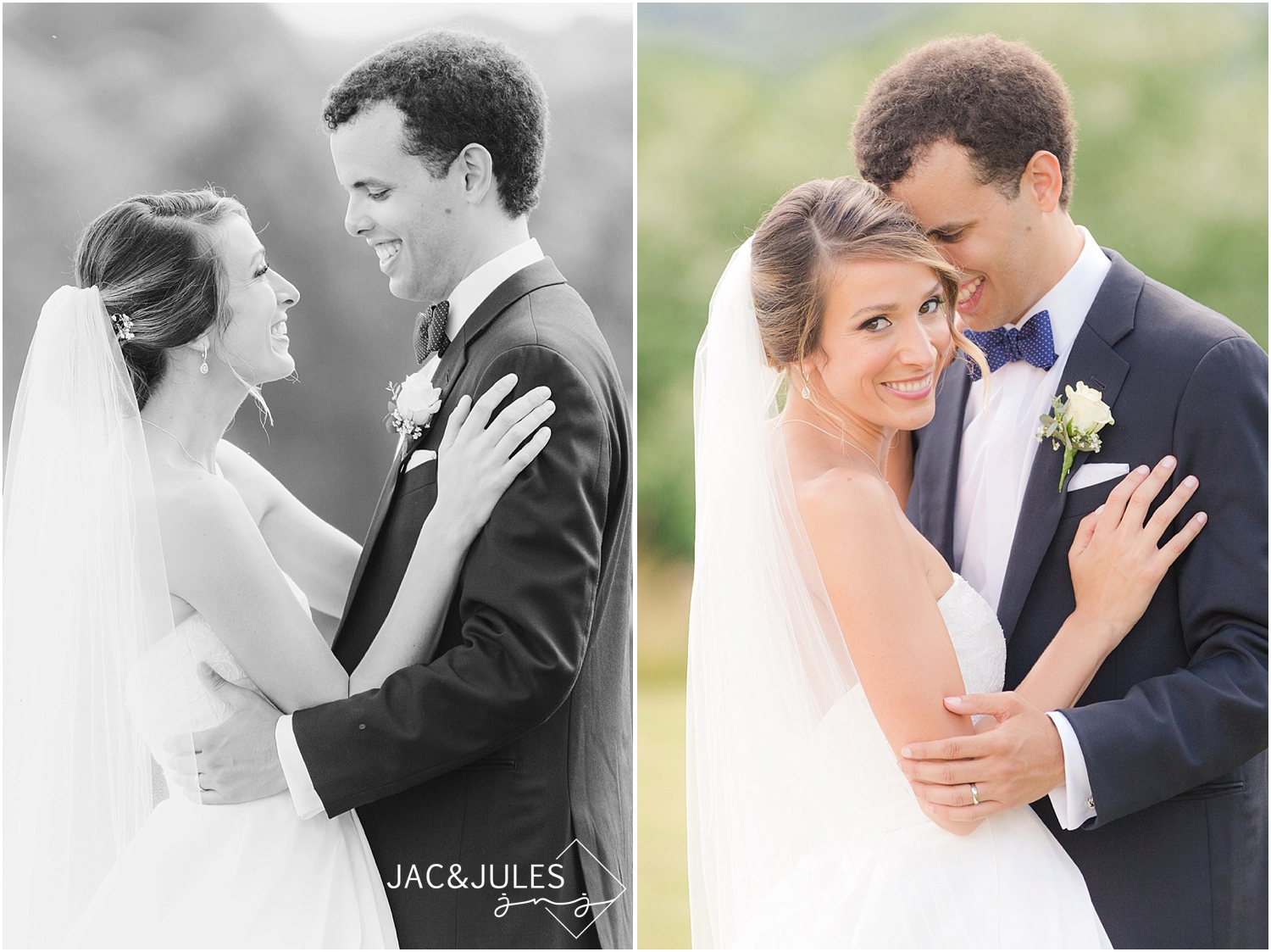 jacnjules photographs bride and groom at immaculate conception in annandale nj