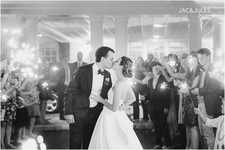 jacnjules photograph sparkler exit at a wedding in basking ridge nj at olde mill inn