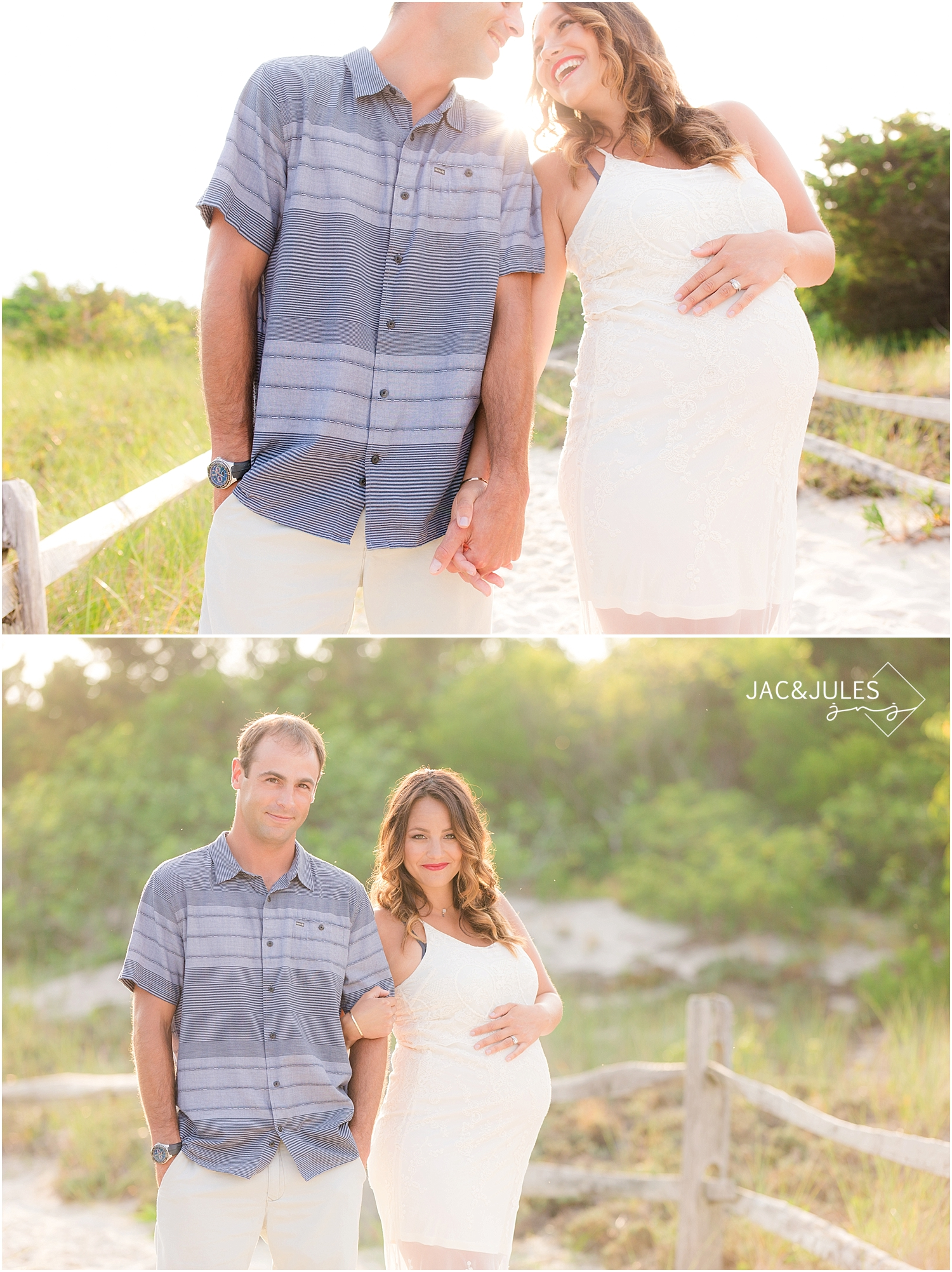 jacnjules photographs maternity photos at at sunset in island beach state park nj