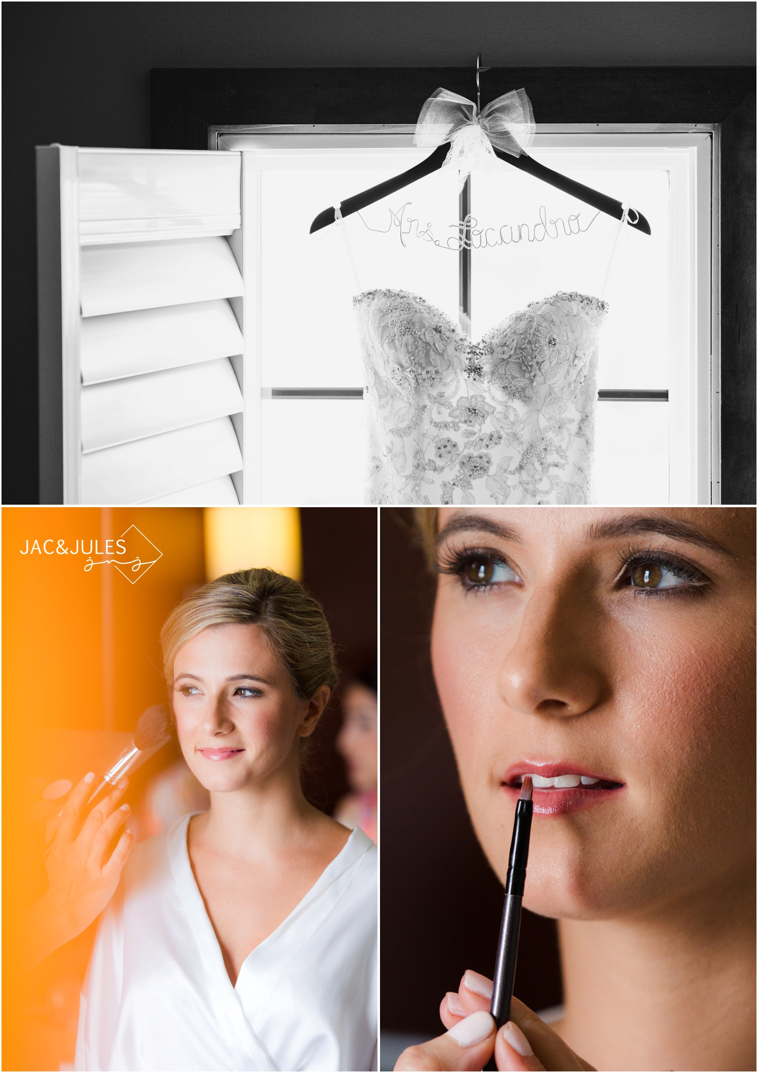 bridal gown and make up at Daddy O in Long Beach Island, NJ.