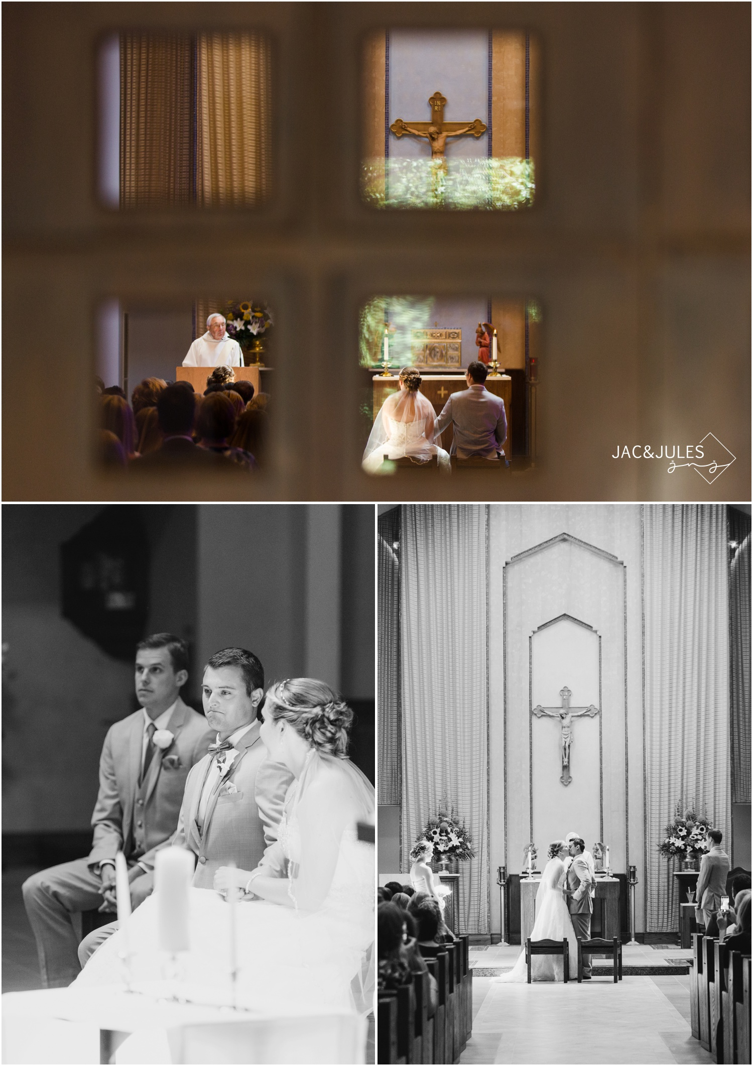 wedding ceremony, emotional groom, first kiss.