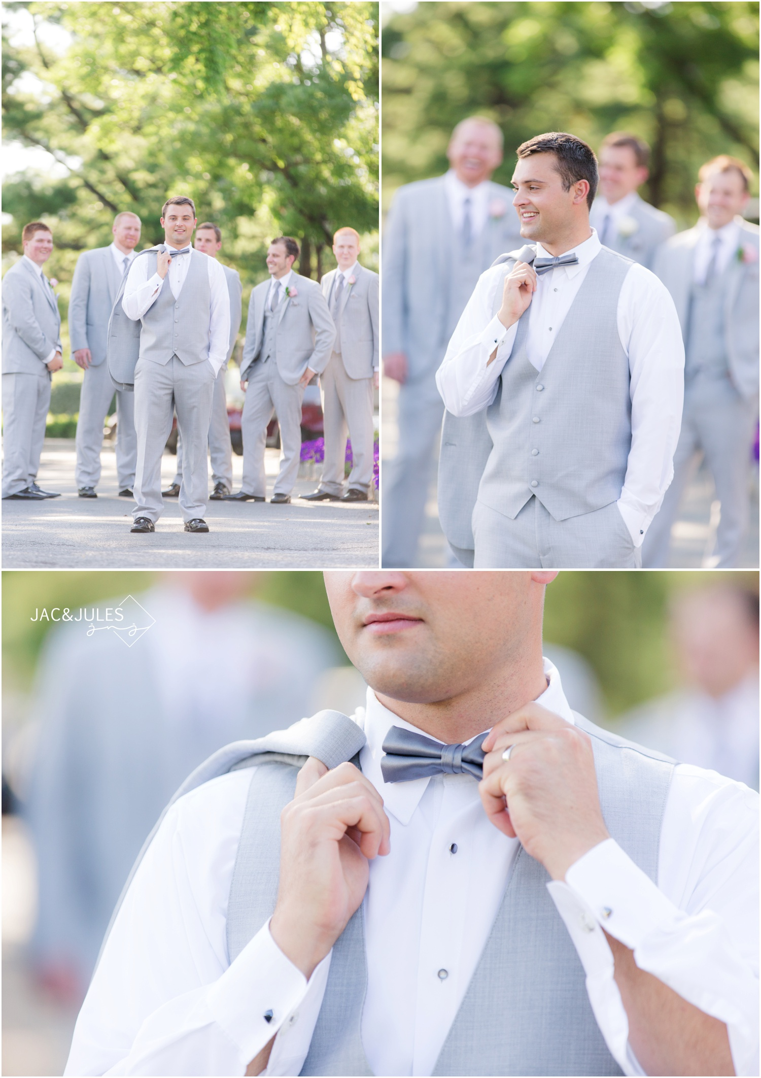 groom and groomsmen photos at forsgate country club in Monroe, NJ.