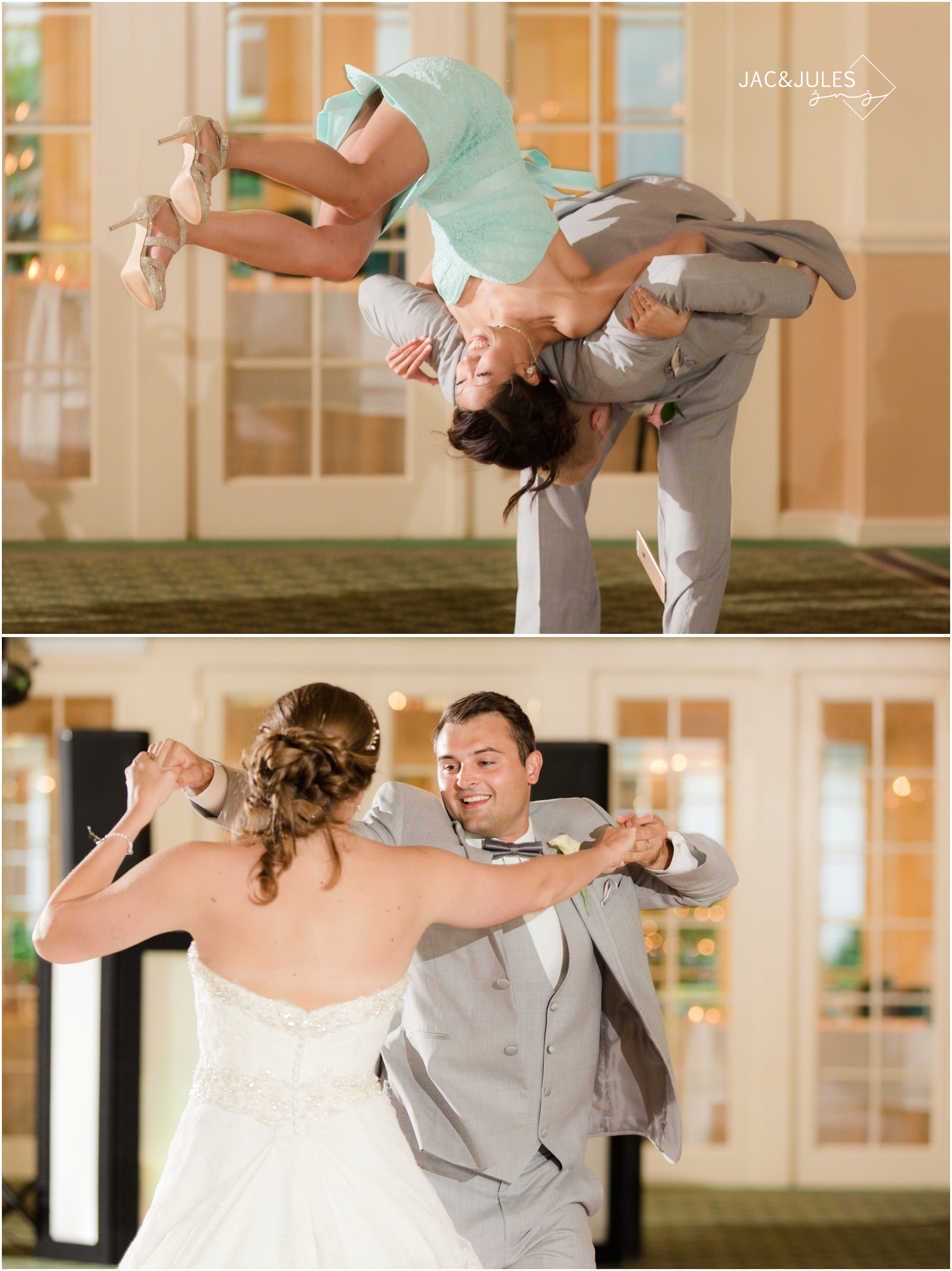 bridal party entrance and first dance at forsgate country club in Monroe, NJ.