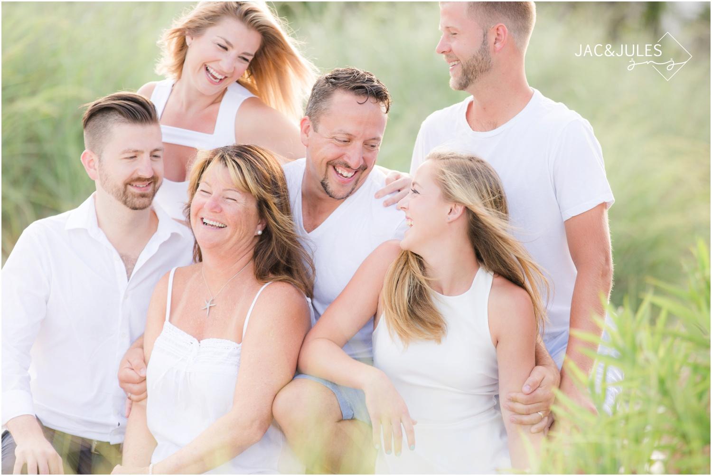 candid family beach photo in Long Beach Island, NJ