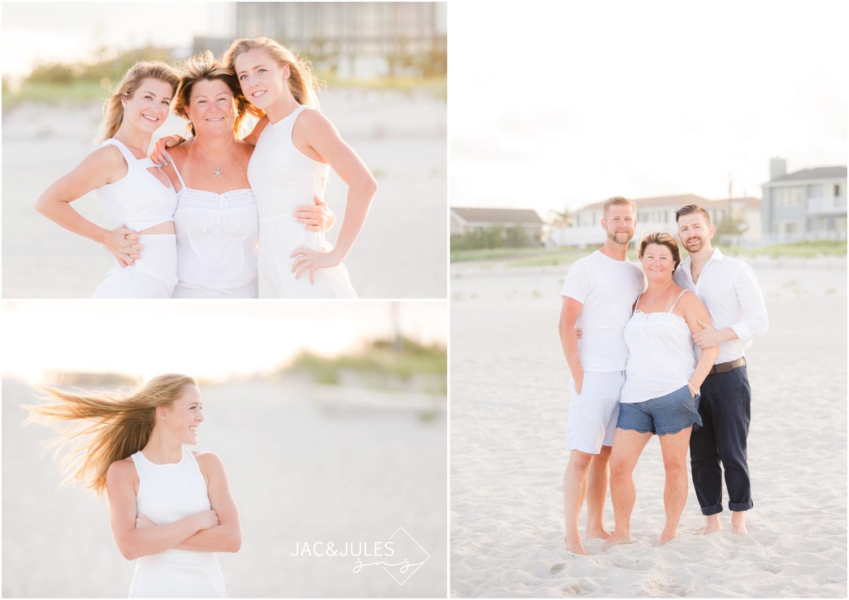extended family beach photos in Long Beach Island, NJ