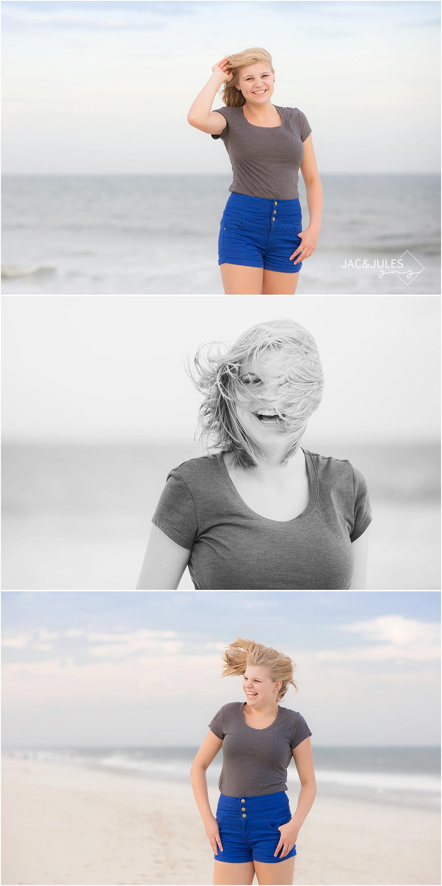 jacnjules takes fun family beach portraits in seaside park, nj