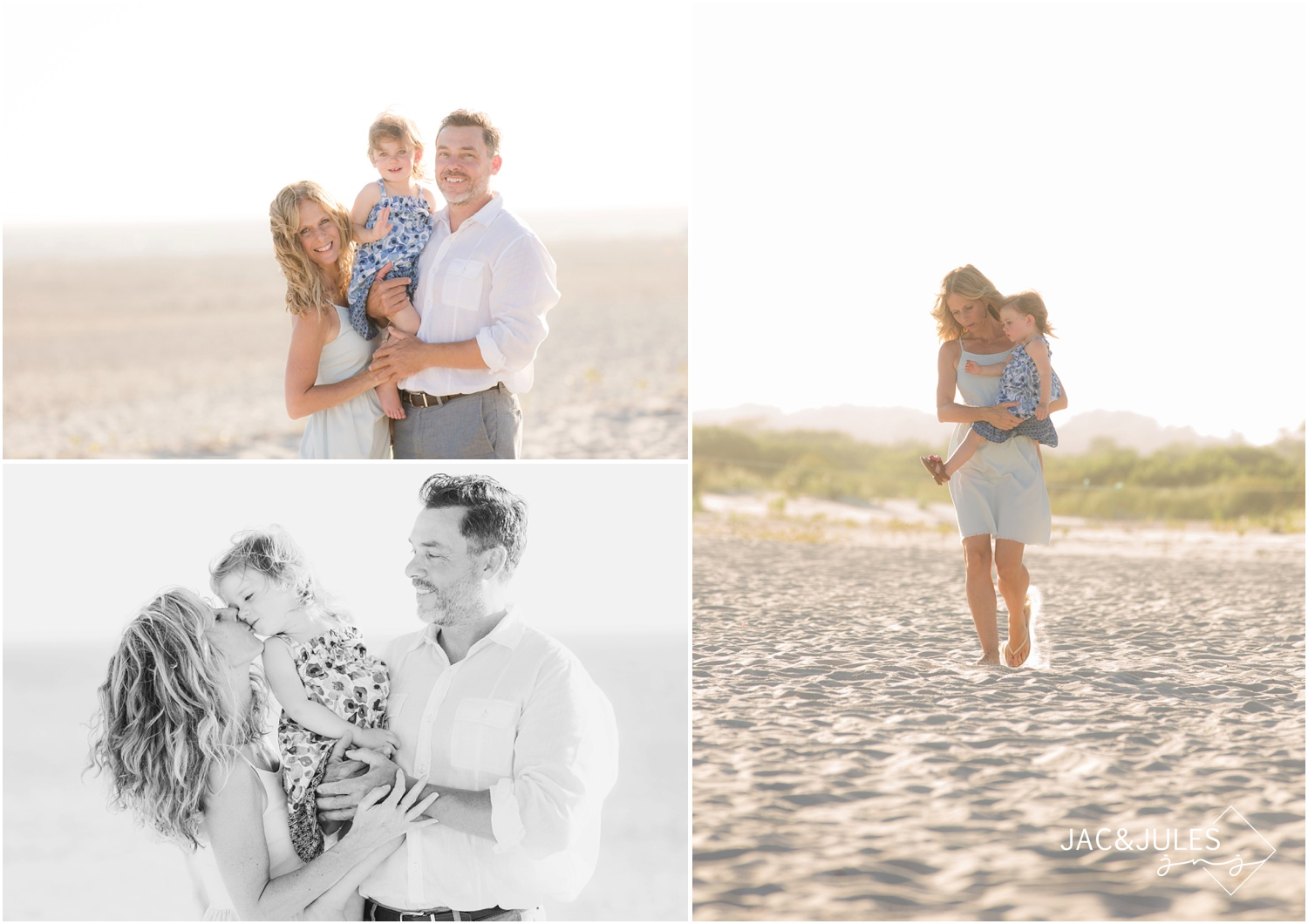 sweet family photos on the beach in Cape May, NJ