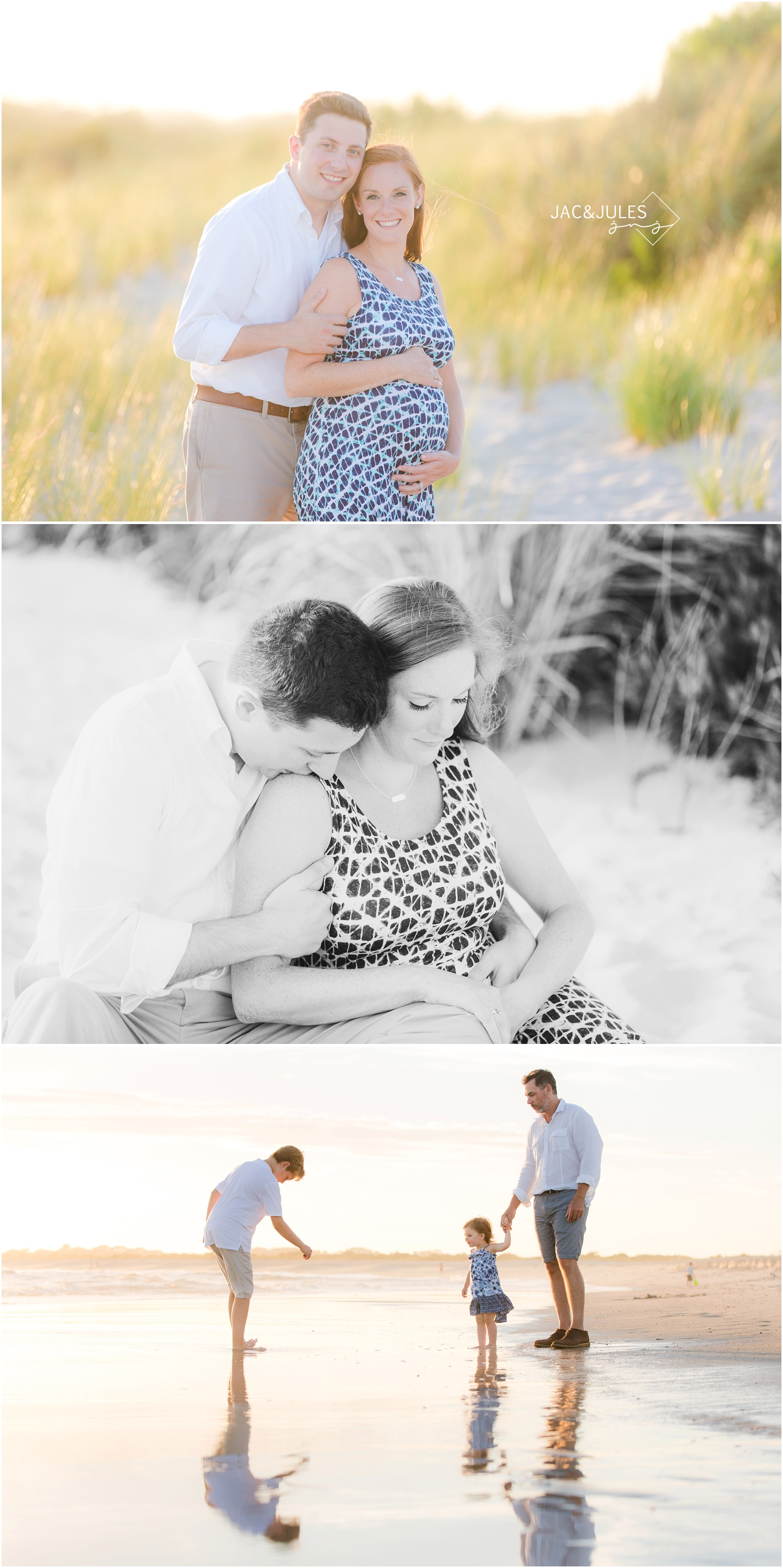 pretty beach maternity photos in cape may, nj