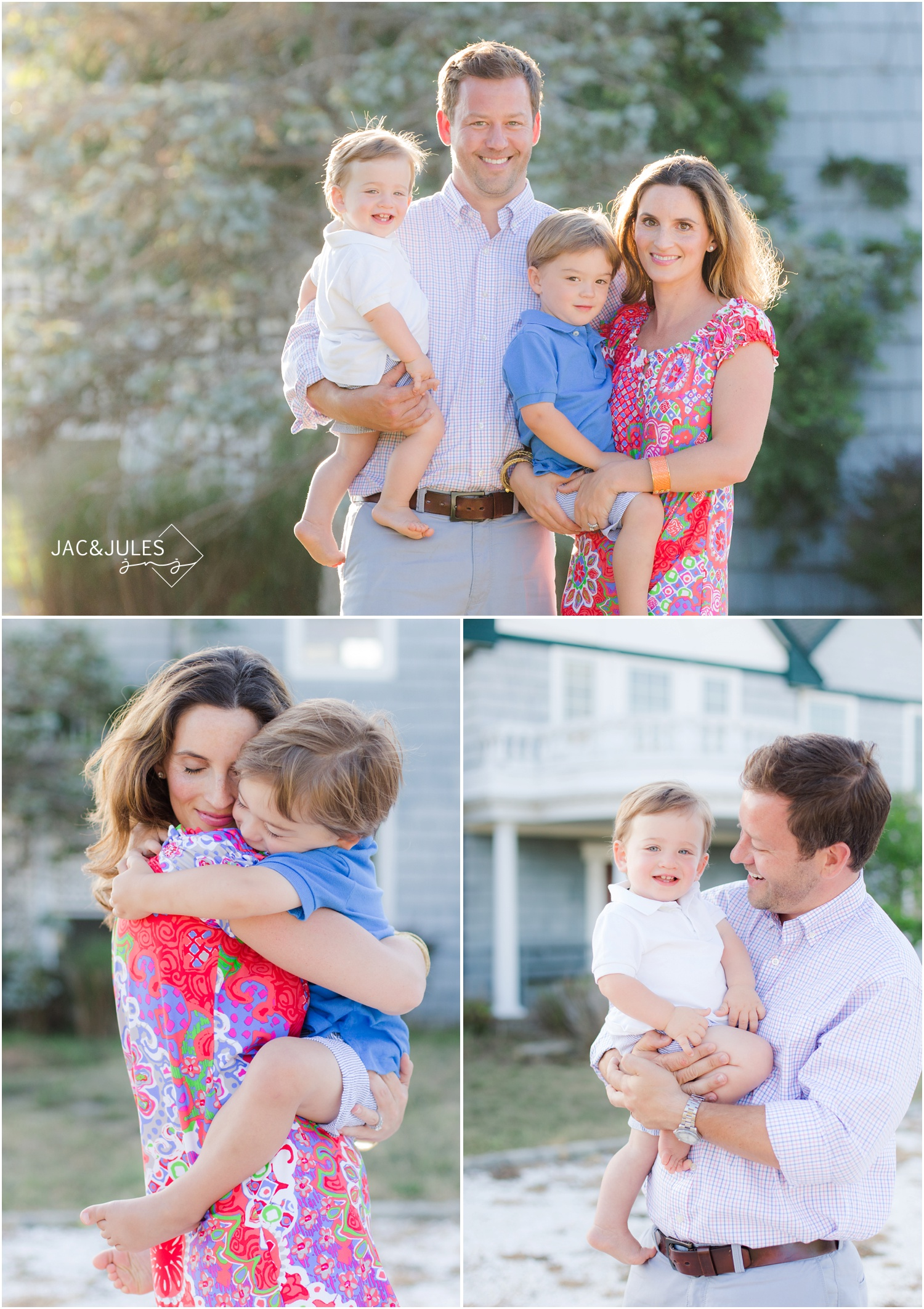 classic family portraits in Mantoloking NJ