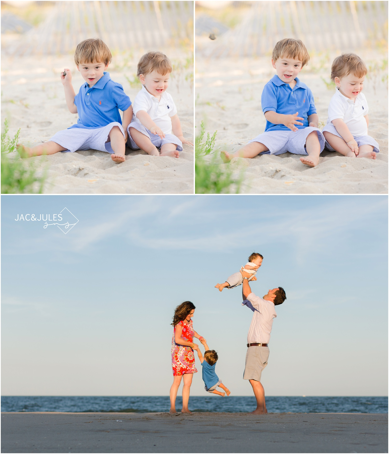 funny kids photos on the beach in Mantoloking NJ