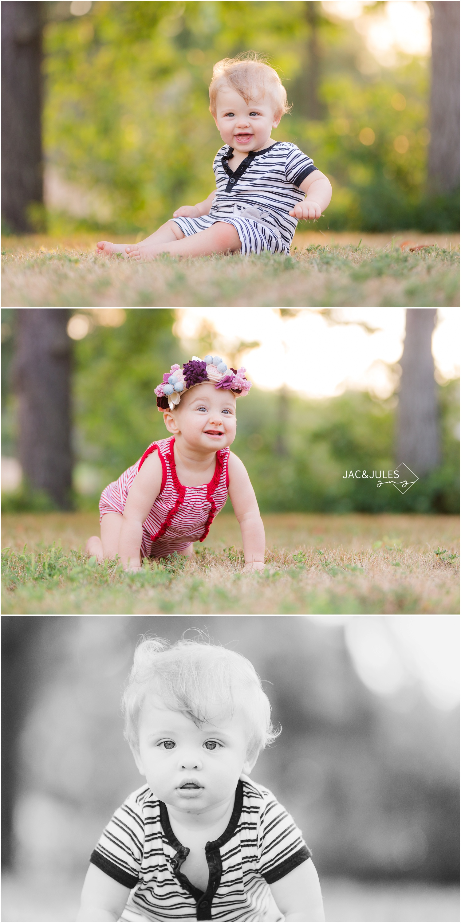twin first birthday portraits in Spring Lake NJ
