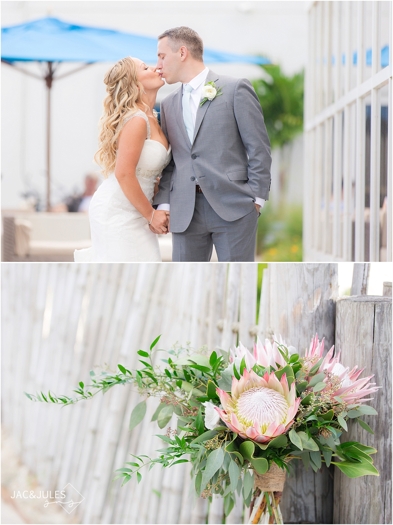 jacnjules photographs first look with bride and groom at Ocean Place in Long Branch, NJ