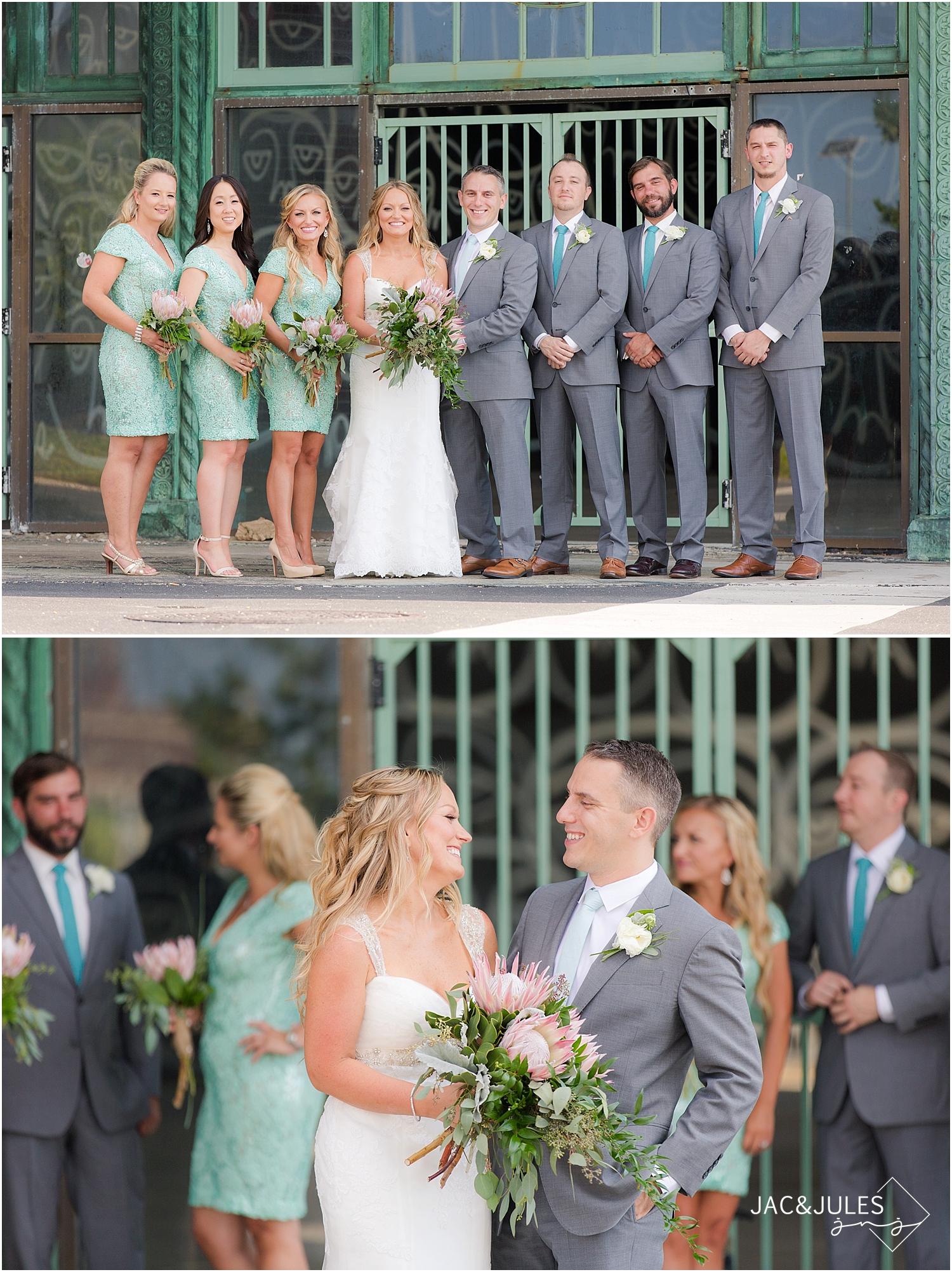 jacnjules photographs fun bridal party in Asbury Park, NJ