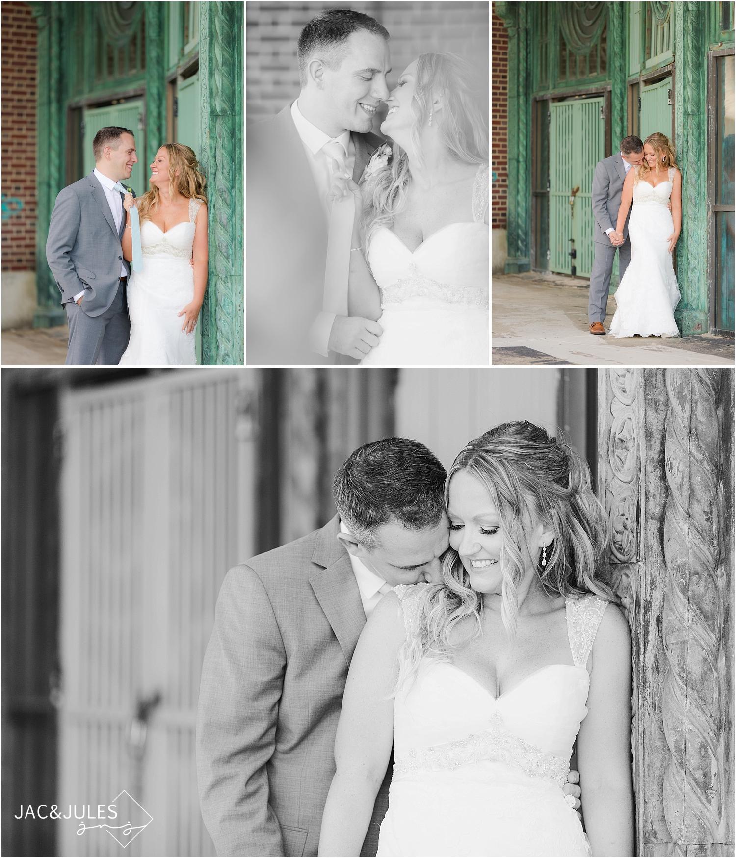jacnjules photographs beautiful bride and groom in asbury park, nj