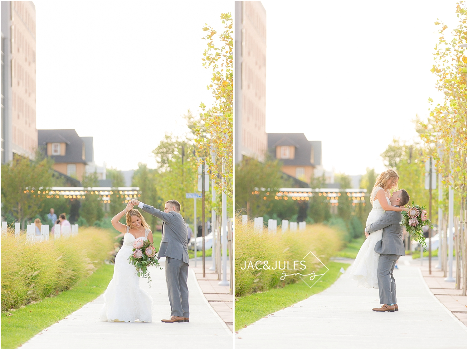 jacnjules photographs bride and groom at the Asbury Hotel