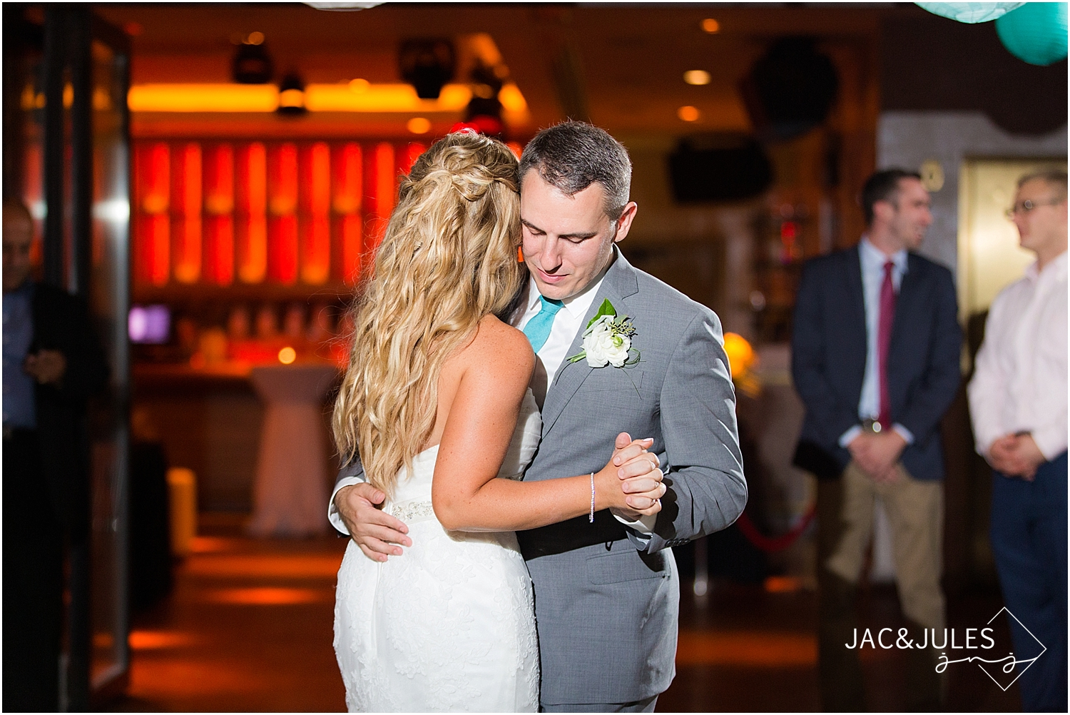 jacnjules photographs first dance at a wedding reception at Le Club Avenue in Long Branch, NJ