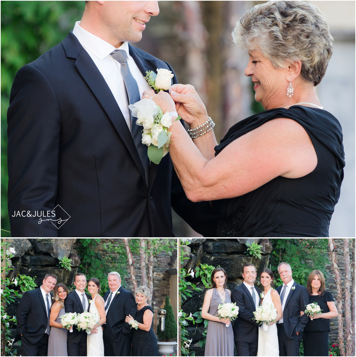 Wedding family photos at Fox Hollow in Woodbury, NY
