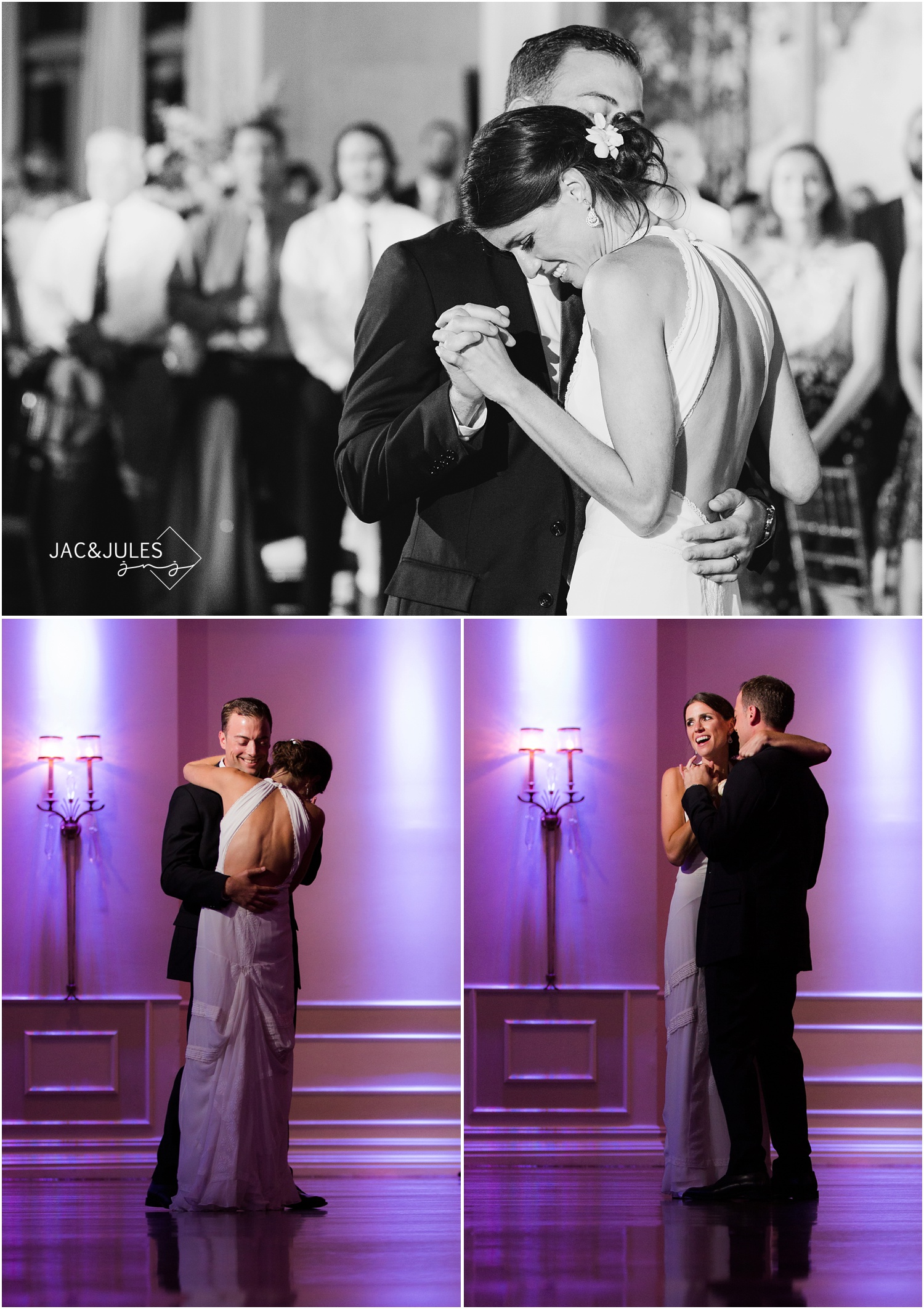 Bride and Groom first dance at Fox Hollow in Woodbury, NY