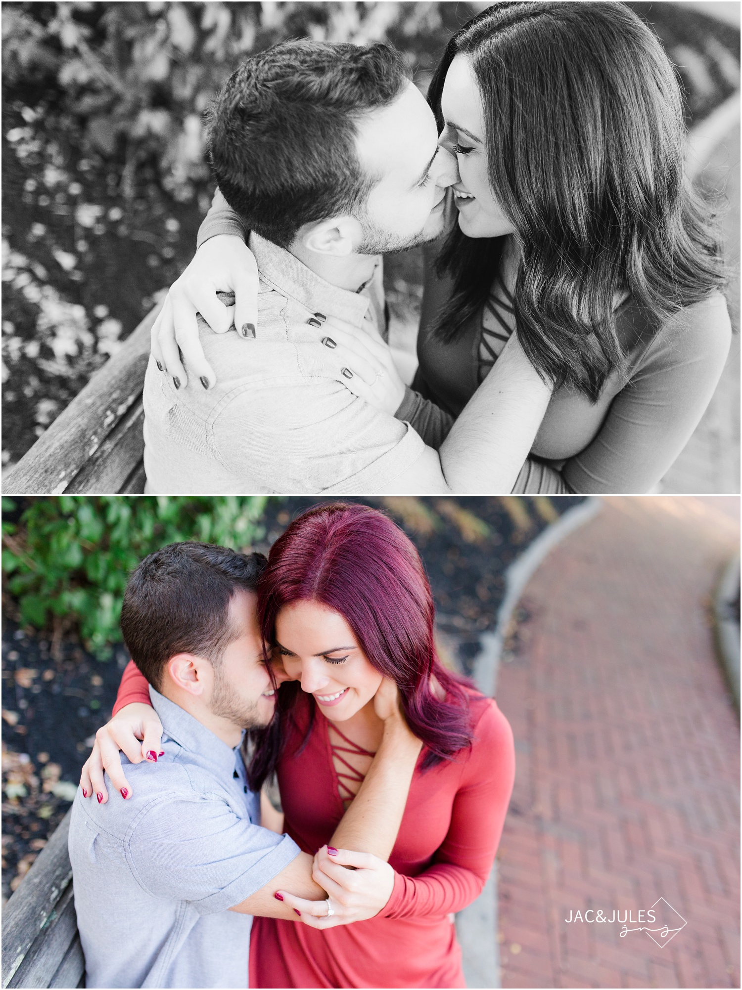 Intimate engagement photos in Red Bank, NJ
