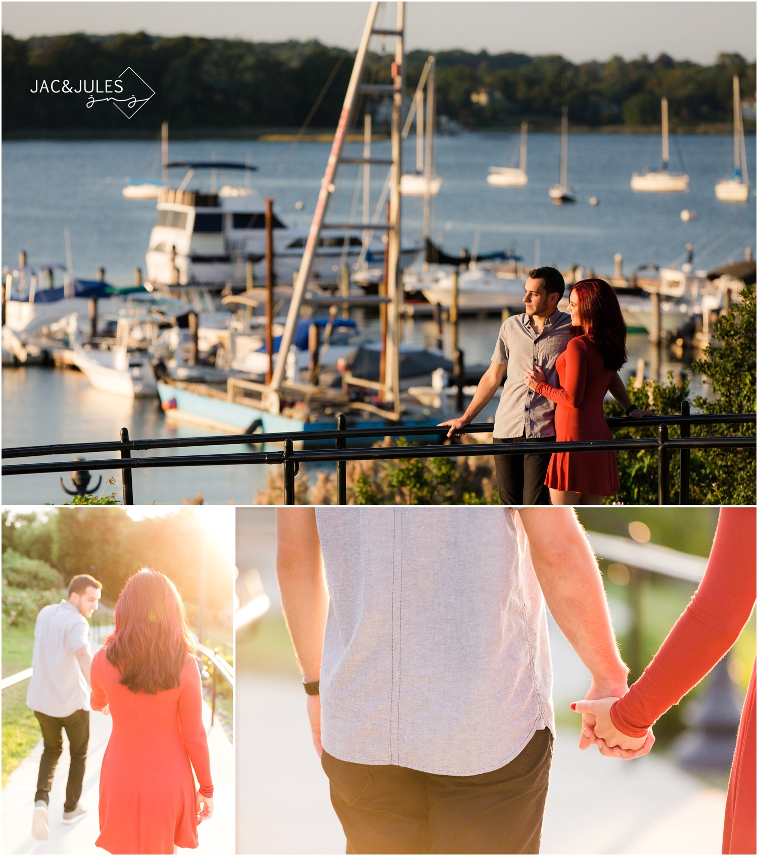 Riverside park Engagement photos in Red Bank, NJ