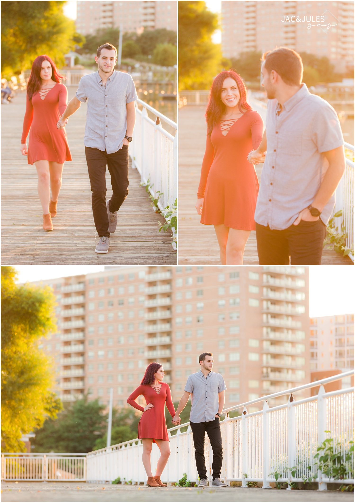 Cool engagement photos in Red Bank, NJ